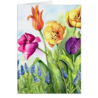 Tarjeta Notecards de los tulipanes