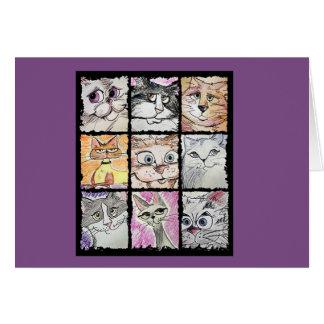 Tarjeta Notecards locos del gato