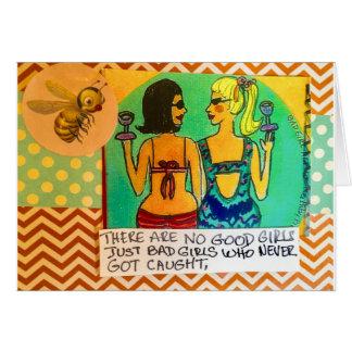 Tarjeta Notecards-there no es ningún buen chica. Apenas