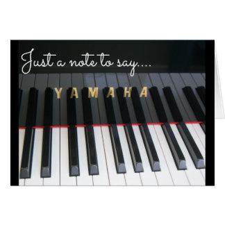 Tarjeta Notelet del teclado de piano