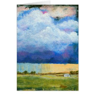 Tarjeta Nubes de tormenta de la lluvia de la casa de la
