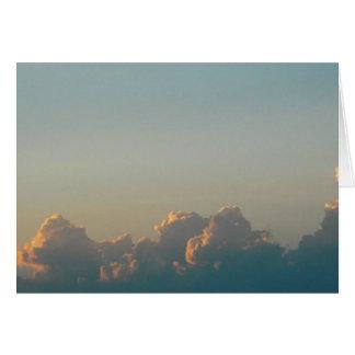Tarjeta nubes en Rumania