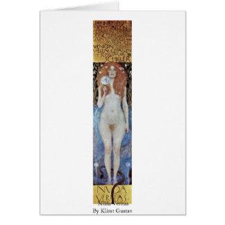 Tarjeta Nuda Veritas de Klimt Gustavo