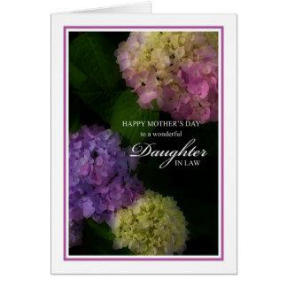 Tarjeta Nuera del día de madre, Hydrangea pintado