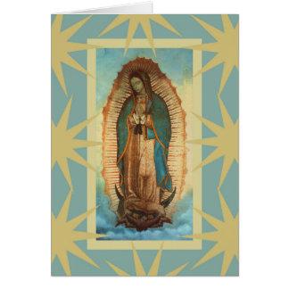 Tarjeta Nuestra señora de Guadalupe