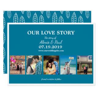 Tarjeta Nuestro collage de encargo de la foto de Love
