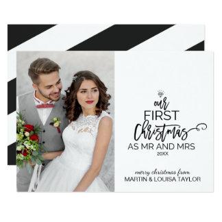 Tarjeta Nuestro primer navidad como Sr. y señora Photo