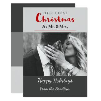 Tarjeta Nuestro primer navidad del día de fiesta del