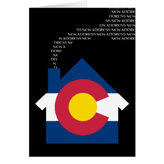 Tarjeta nueva dirección de Colorado