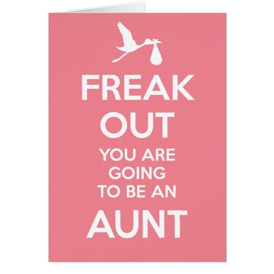 Tarjeta Nueva tía Pregnancy Announcement
