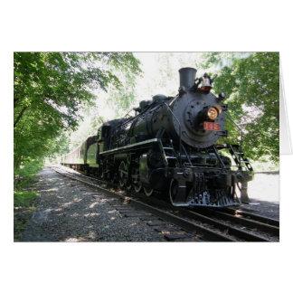 Tarjeta Nueva York Susquehanna y locomotora de vapor