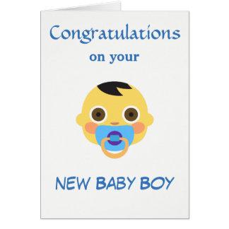 Tarjeta Nuevo bebé, Emoji.
