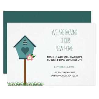 Tarjeta Nuevo hogar moderno, casa, estamos moviendo la