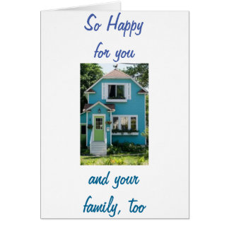 TARJETA NUEVO HOME-NEW MEMORIES-HAPPY PARA YOU/FAMILY