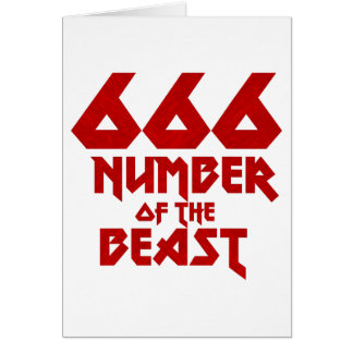Tarjeta Número de la bestia
