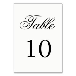 Tarjeta Número de la tabla de la escritura