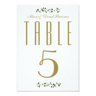 Tarjeta Número de la tabla de la recepción nupcial del día