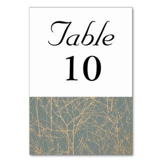 """Tarjeta Número de la tabla del """"árbol"""" de la pizarra"""