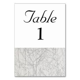 "Tarjeta Número de la tabla del ""árbol"" de la plata"