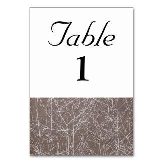 """Tarjeta Número de la tabla del """"árbol"""" de la trufa"""