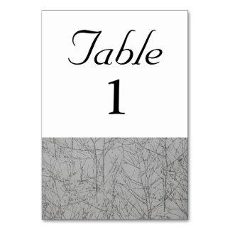 "Tarjeta Número de la tabla del ""árbol"" del grafito"
