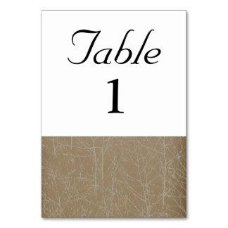 """Tarjeta Número de la tabla del """"árbol"""" del oro"""