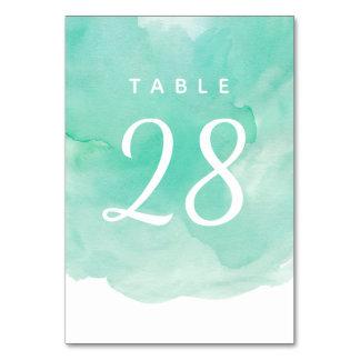 Tarjeta Número de la tabla del boda en fondo de la