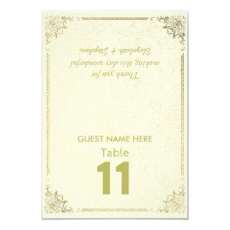 Tarjeta Número floral de la tabla del asiento del boda del