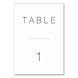 Tarjeta Número moderno suizo de la tabla