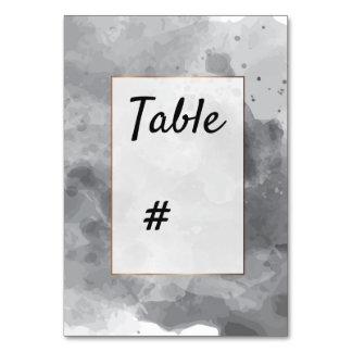 Tarjeta Número negro grisáceo romántico de la tabla de la