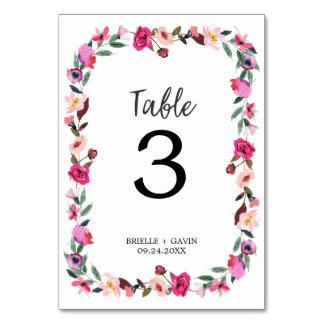 Tarjeta Número romántico de la tabla de la guirnalda del