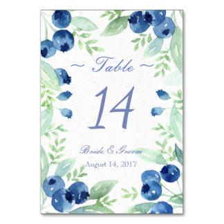 Tarjeta Número rústico de la tabla del boda del pleno