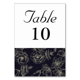 Tarjeta Número subió vintage de la tabla