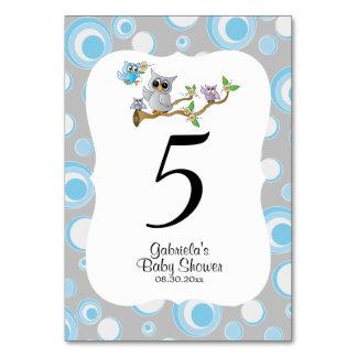 Tarjeta Números azules y grises de la tabla del tema de la