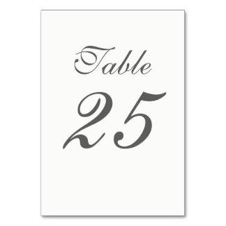 Tarjeta Números blancos y grises elegantes