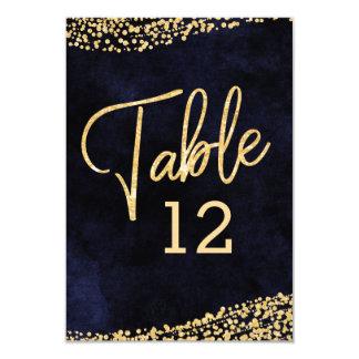 Tarjeta Números de la tabla del boda de la acuarela y del