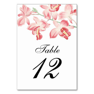 Tarjeta Números modernos elegantes de la tabla del boda de