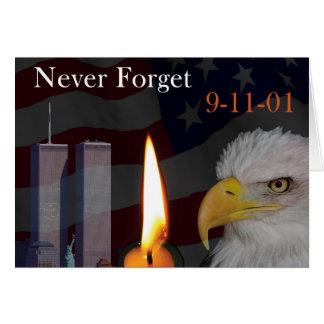 Tarjeta Nunca olvide 9-11-01