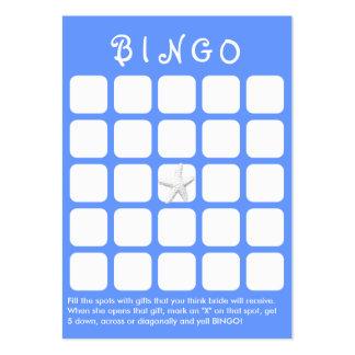 Tarjeta nupcial azul clara del bingo de la ducha tarjetas de visita grandes