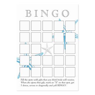 Tarjeta nupcial azul simple del bingo de la ducha  tarjetas de visita grandes