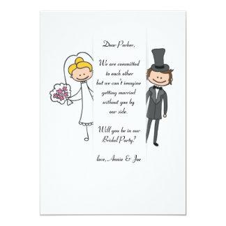 Tarjeta nupcial de la petición del fiesta de novia invitación 12,7 x 17,8 cm
