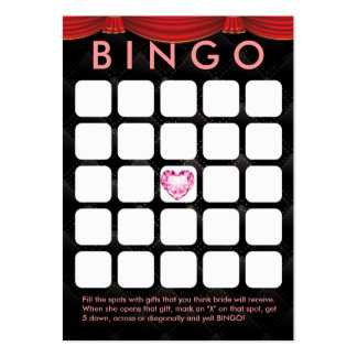 Tarjeta nupcial del bingo de la ducha 5x5 del cora plantillas de tarjeta de negocio