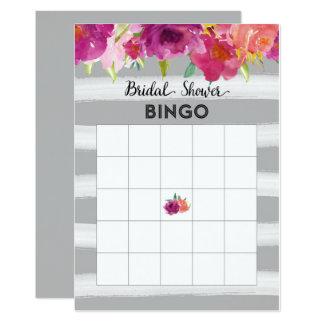 Tarjeta nupcial del bingo de la ducha de la