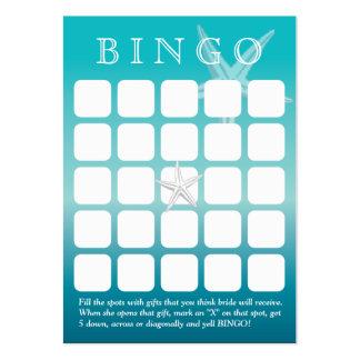 Tarjeta nupcial del bingo de la ducha de las estre tarjetas de visita grandes