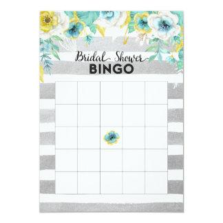 Tarjeta nupcial del bingo de la ducha de las invitación 12,7 x 17,8 cm