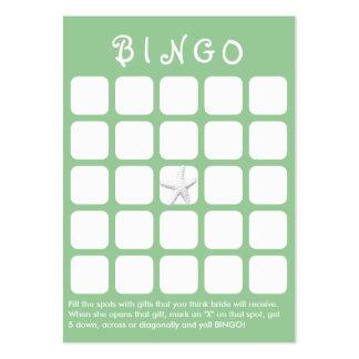 Tarjeta nupcial del bingo de la ducha de los pesca tarjetas de visita