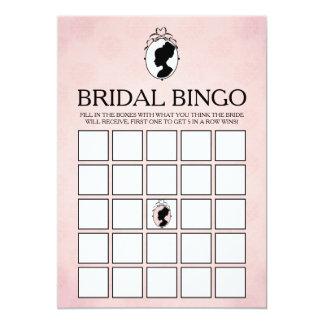 Tarjeta nupcial del bingo de la ducha del camafeo invitación 12,7 x 17,8 cm