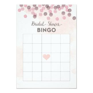 Tarjeta nupcial del bingo de la ducha del confeti invitación 12,7 x 17,8 cm