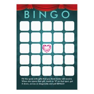 Tarjeta nupcial del bingo de la ducha del corazón  tarjetas de visita grandes