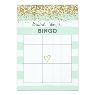 Tarjeta nupcial del bingo de la ducha del falso invitación 12,7 x 17,8 cm